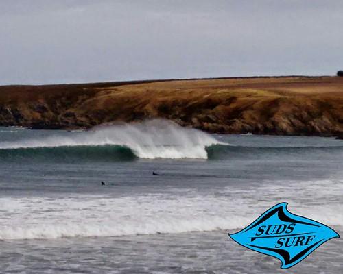 Suds Surf School - good day at Sandend, Sandend Bay