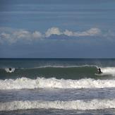 Orewa beach the day after cyclone pam