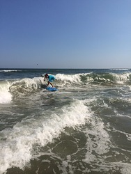 Getting some nice waves, Cherry Grove Pier photo