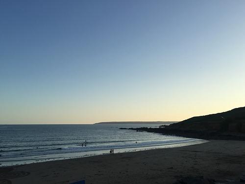 Perranuthnoe Beach at Sunset