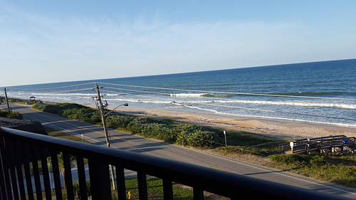 Late surfers at Ormond-by-the-Sea, Ormond Beach