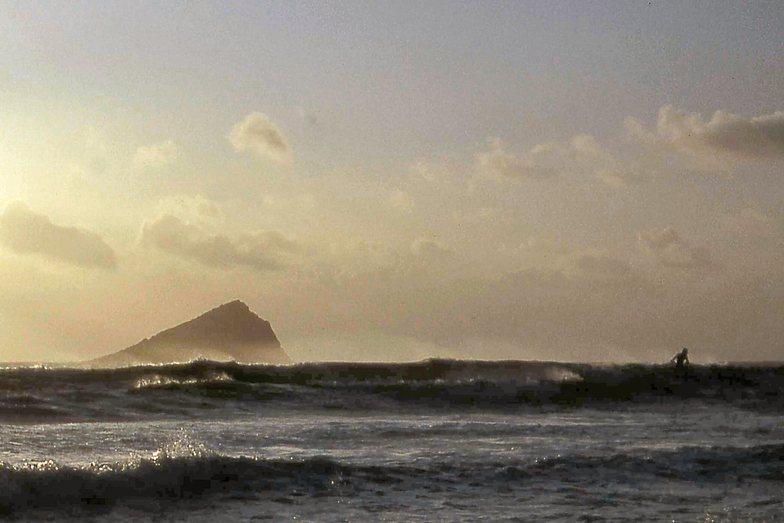 Lone Surfer at Wembury Bay