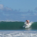 Me surfing, Tamarin Bay