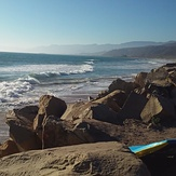 Faria waves, looking north
