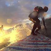 Sunrise surfer, Topanga Point