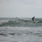 Good longboard and short board waves., Rayong Mae Ramphung Beach