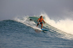 Guy Baker on the 7ft SUP, Ekas-Inside photo