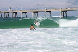 Showing son what Hawaiian's do for fun, Okaloosa Pier photo