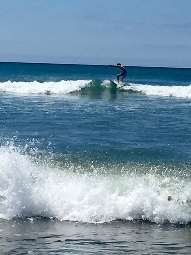 Fun waves, Waihi Beach