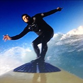 Phil Lyons by gopro at St Clair, Dunedin - St Clair