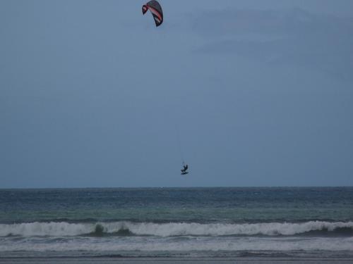 Kitesurfer at Goulien