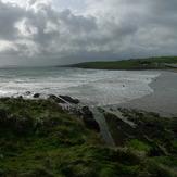Falling tide, strong onshore, Garrettstown