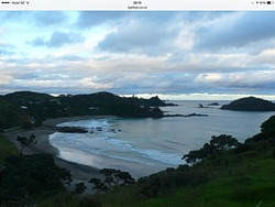Moureeses  Beach from Mouwhara, Whananaki Beach photo
