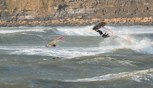 Getting some air, Kimmeridge Bay