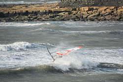 Wave hopping., Kimmeridge Bay photo