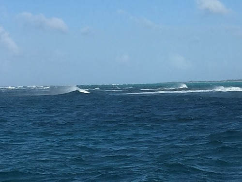 Fort George Cut Northerly swell SE wind, Fort George Cut (Pine Cay)