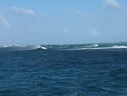 Fort George Cut Northerly swell SE wind, Fort George Cut (Pine Cay) photo