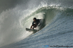 Steve O barrel master, Puerto Sandino photo
