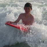 Fun in the surf fore everyone at Pors Ar Ville, Brittany