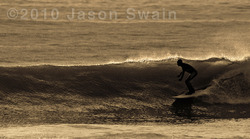 Classic long-boarding session, Compton Bay photo