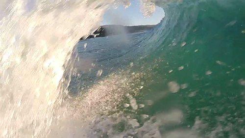 Right hander, sand banks, Rennies Beach