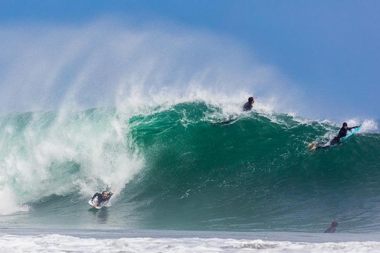 boogey boarder at Mugu, Point Mugu