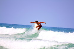 H.W. carving up Ponce, Ponce Inlet photo