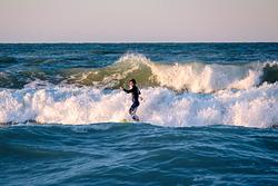 SUP at Spiaggia di Ponente, Italy, Fano Lido (Spiaggia di Ponente) photo