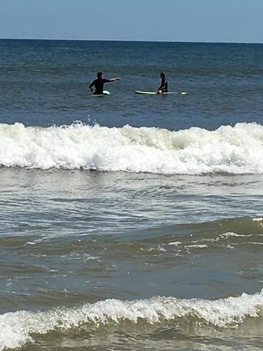 First Surfing Lesson, Brick Beach