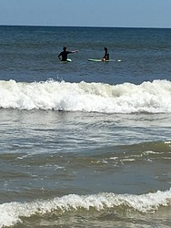 First Surfing Lesson, Brick Beach photo