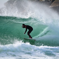 The south wall throwing a D Bah barrel, Duranbah photo