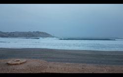 orzan con 3m a finales de septiembre, Playa do Orzan photo