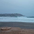 orzan con 3m a finales de septiembre, Playa do Orzan