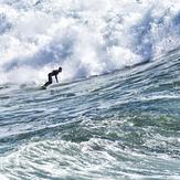 Ben surfs Middle Peak, Steamer Lane-Middle Peak