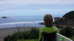 Fantastic surf day, Maori Bay photo