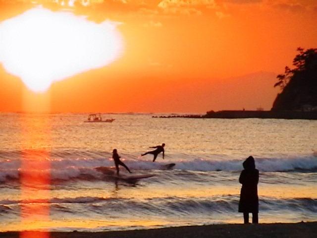 Kamakura surf break