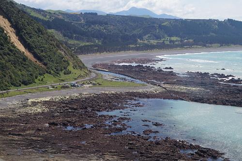 Waipapa Bay area after the 7.8 Kaikoura Earthquake