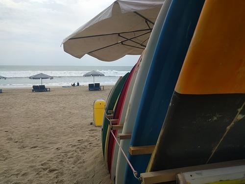 Surfboard rental at the padma