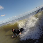 A clean Walton wave, Walton-On-The-Naze