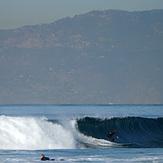 View on Santa Monica Mountains, El Porto Beach