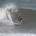 Alduir dropping on a UAJU Surfboard, Mendihuaca