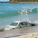 Body surfing, Smugglers cove