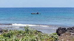 Fisherman, Teouma Bay photo