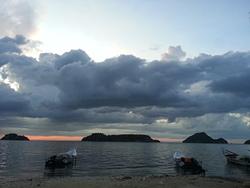 Playa  de la esmeralda, sucre, venezuela photo
