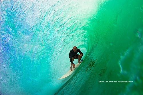 Russian Surfer inside the Barrel, Padang Padang