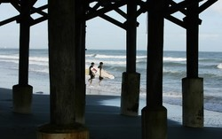 Bout to Paddle Out, Cocoa Beach Pier photo