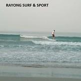 Eric D surfing Rayong, Rayong Mae Ramphung Beach