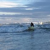 Surfing at Bethells, O'Neills Bay