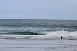 Pumping Allan Cove - S Swell, SW wind, Otago Peninsula - Allans Beach photo