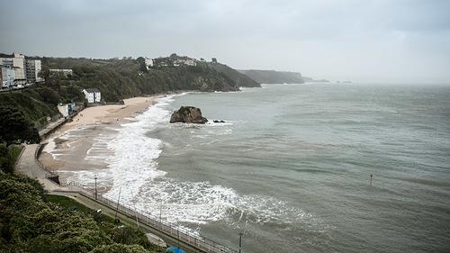 Storm Ophelia, Tenby North Beach, Tenby (North Beach)